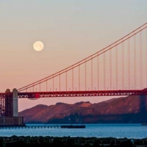 Golden Gate with Moon
