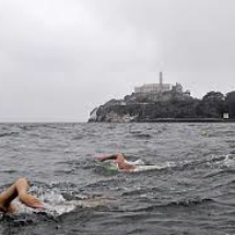 SF Bay Alcatraz swimmers pinterest.com
