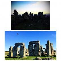 Armenia and England Stonehenge Collage