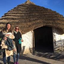 Lees outside the Stonehenge Natives huts