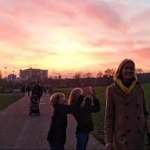 Sunset kids and sal