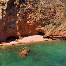 Berlenga Beach and cliffs