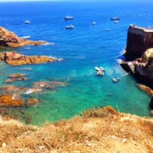 Berlenga Fort boats and water