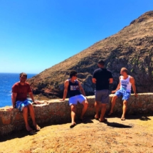 Berlenga boys on wall