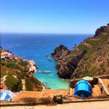 Berlenga camp site overlooking cove