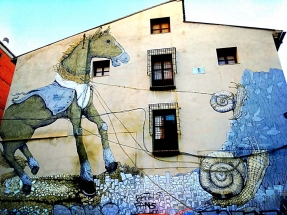 Street Art Horse and Snails