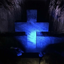 Salt Mine cross carved out of stone3