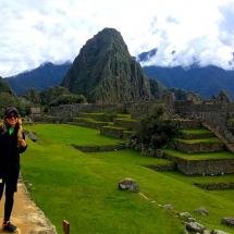 Machu Picchu leaning in