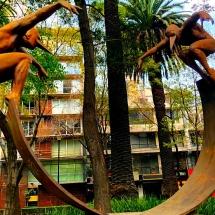 Bird Men statues DF