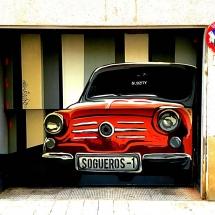 Car Mural on Garage Door
