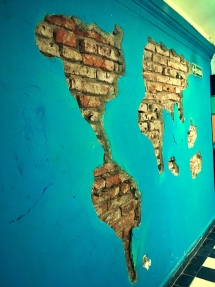Chipped Wall Map