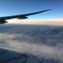 Flight over the Alaskan tundra